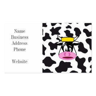 Vaca loca divertida Bull en modelo de la impresión Tarjeta De Visita