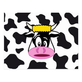 Vaca loca divertida Bull en modelo de la impresión Tarjeta Postal