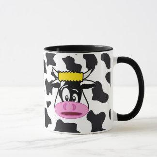 Vaca loca divertida Bull en modelo de la impresión Taza