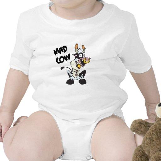 vaca loca divertida camisetas