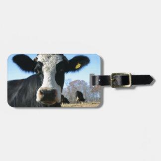 Vaca loca etiquetas de equipaje