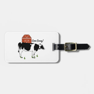 ¡Vaca loca! Etiquetas De Equipaje