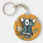 Vaca loca laberíntica llaveros personalizados