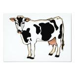 Vaca manchada invitación 12,7 x 17,8 cm