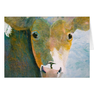 Vaca manchada Notecard Tarjeta Pequeña