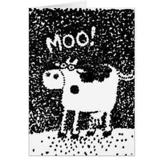 Vaca manchada tarjeta de felicitación