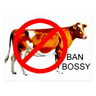 Vaca mandona de la campaña de la prohibición tarjetas postales