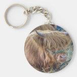 Vaca melenuda llaveros personalizados