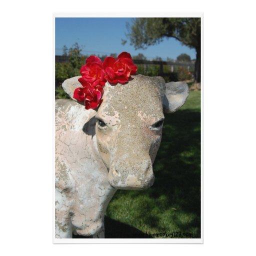 Vaca meridional papelería de diseño