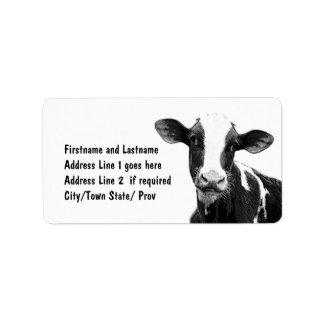 Vaca modificada para requisitos particulares del etiqueta de dirección