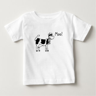 ¡Vaca, MOO! Playera De Bebé