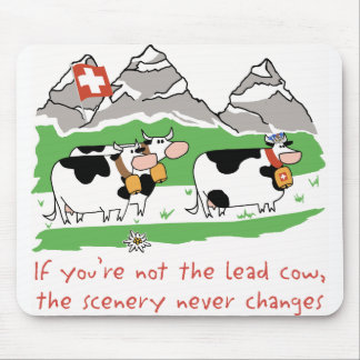 Vaca Mousepad de la ventaja
