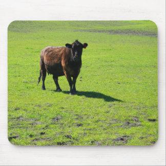 Vaca negra Mousepad Tapete De Ratones