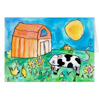 Vaca • Nick Abrams, edad 15 Tarjeta Pequeña