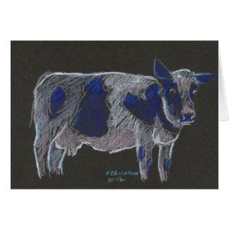 Vaca Notecard de Holstein Tarjeta De Felicitación