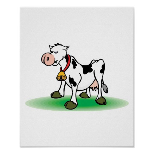 vaca obstinada que pone mala cara póster
