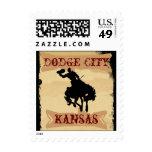 Vaca occidental de Kansas KS de la ciudad de Dodge Sello