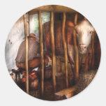Vaca - ordeño de Mabel Etiqueta Redonda