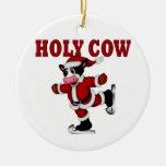Vaca patinadora del navidad adorno para reyes