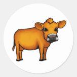 Vaca Pegatina Redonda