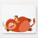 Vaca perezosa linda Mousepad de la montaña del dib
