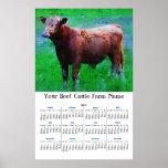Vaca pintada de Brown Impresiones