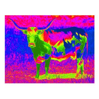 Vaca psicodélica del fonolocalizador de bocinas gr postales
