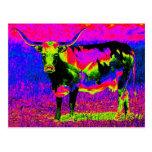 Vaca psicodélica del fonolocalizador de bocinas gr postal