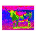 Vaca psicodélica del fonolocalizador de bocinas gr tarjeta postal