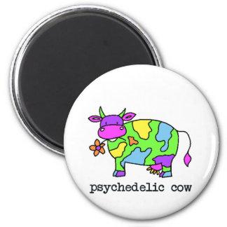 vaca psicodélica imanes para frigoríficos