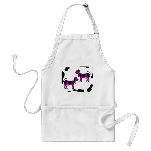 Vaca púrpura delantal