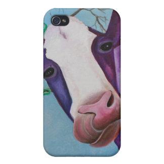 Vaca púrpura iPhone 4/4S fundas
