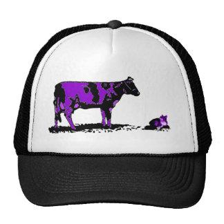 vaca púrpura gorras