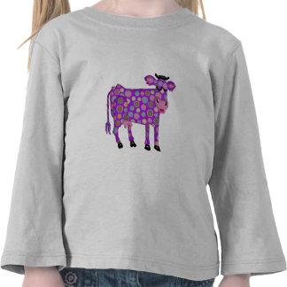 Vaca púrpura camisetas