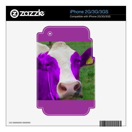 vaca púrpura skin para el iPhone 3GS