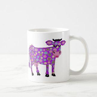 Vaca púrpura taza de café