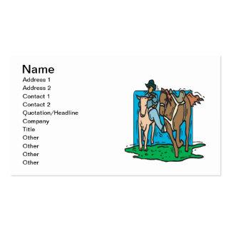 Vaca que discute tarjetas de visita