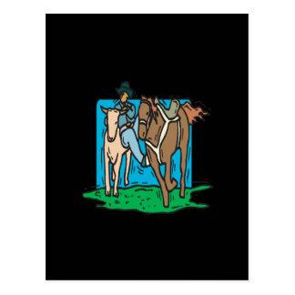 Vaca que discute tarjeta postal