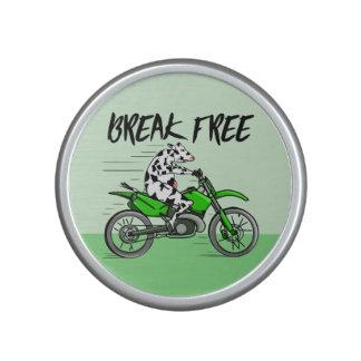 Vaca que monta una moto altavoz