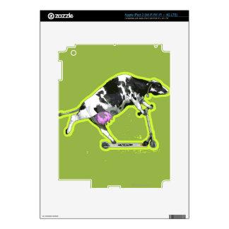Vaca que monta una vespa pegatina skin para iPad 3