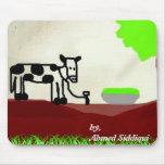 Vaca que pinta Mousepad Alfombrillas De Ratones