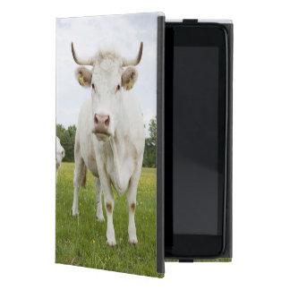 Vaca que se coloca en campo herboso iPad mini carcasa