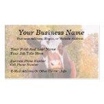 Vaca roja curiosa plantillas de tarjetas de visita