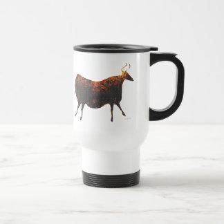 Vaca roja de Lascaux Taza De Viaje De Acero Inoxidable