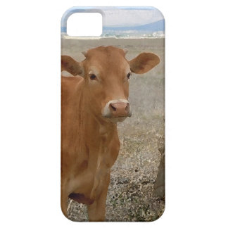Vaca roja joven de la novilla iPhone 5 fundas