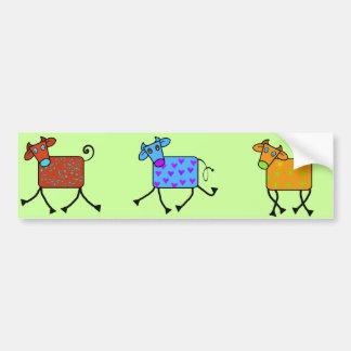 vaca romántica etiqueta de parachoque