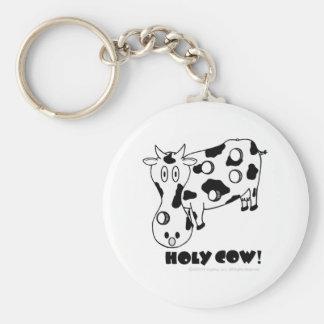 ¡Vaca santa! Llavero Redondo Tipo Pin