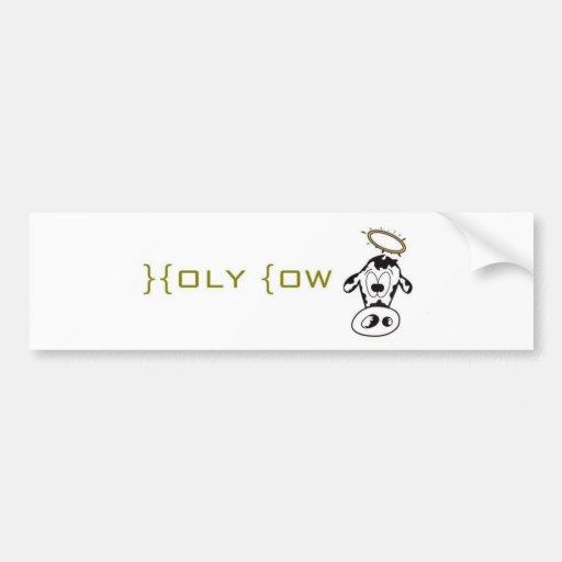 Vaca santa pegatina para auto
