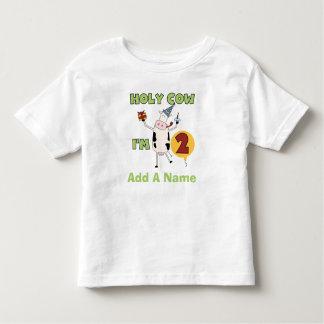 Vaca santa personalizada soy camiseta de 2 playera de niño
