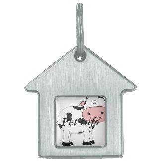 Vaca santa placa mascota